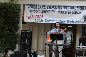 "Philippe playing at ""National Night Out"""